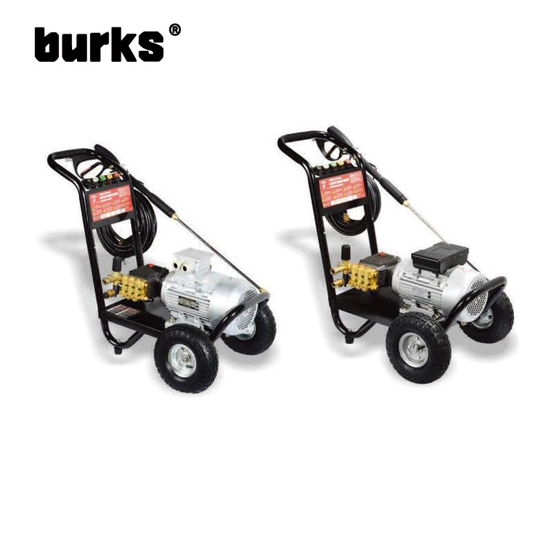 The BKS-Z-1518 BKS-Z-1522 burks 2.2-3 kW motor drive commercial grade high pressure cleaning machine